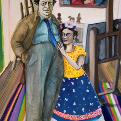 Frida Khalo & Diego Rivera Pop Up Book | Layla Holzer 2012