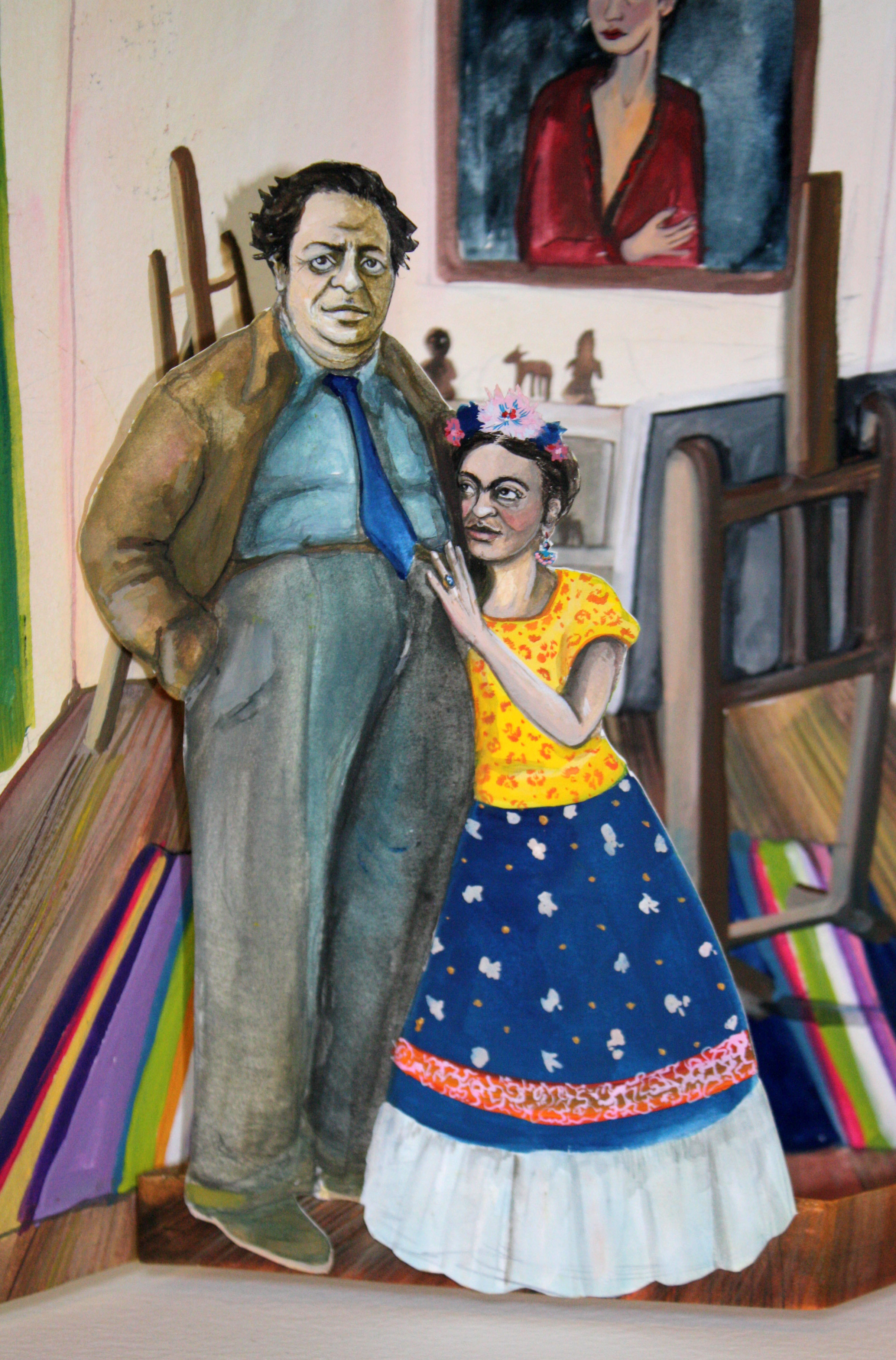 Frida Khalo & Diego Rivera Pop Up Book | Layla Holzer 2012