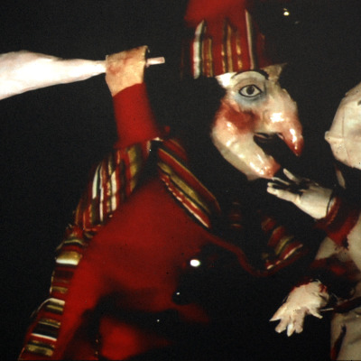 Mr Punch by Layla Holzer contemporary puppetry