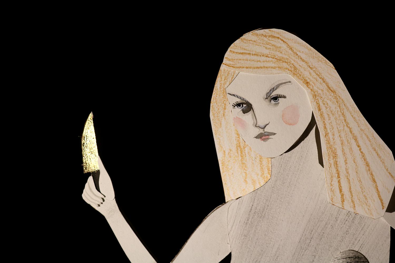 Angela Carter Illustration of Little Red Riding Hood