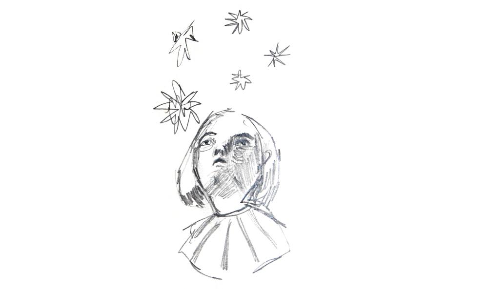 Starry Skies Sketch inspired by Virginia Woolf